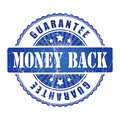 Money Back   Guarantee Stamp with stars. Royalty Free Stock Photo