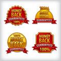 Money back guaranteed label images of Royalty Free Stock Photo