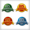 Money back guaranteed label images of Royalty Free Stock Image
