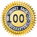 Money back label Stock Image