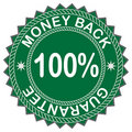 Money back label Royalty Free Stock Photo