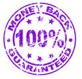 Money back stamp (vector included) Stock Photo