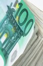 Money background european euro background close up photo shallow dof space your text Stock Photo