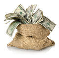Money in the bag Royalty Free Stock Photo
