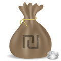 Money bag icon with Israeli Shekel symbol.