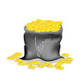 Money bag income of the bank a on a white background Stock Photos