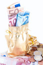 Money bag on white background Royalty Free Stock Photos