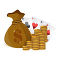 Money bags casino profits Stock Image