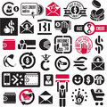 Money and banking icons set Royalty Free Stock Photos