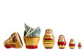 Money are in the big one a set of matrioshka russian dolls isolated over a white background Royalty Free Stock Image