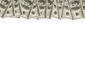 Money Border of hundred dollar bills Royalty Free Stock Photo