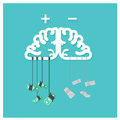Money brain business dollar positive thinking, Clear thin