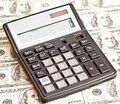 Money and calculator business picture Stock Photography