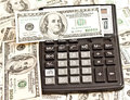 Money and calculator business picture Stock Photos