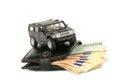 Money&cars Royalty Free Stock Photo