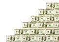 Money cash ladder Royalty Free Stock Photo