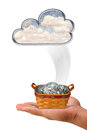 Money from the Clouds. Royalty Free Stock Photo