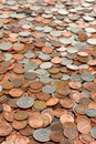 Money coins background Stock Image