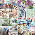 Money collage Royalty Free Stock Photo
