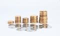 Money columns Royalty Free Stock Photo
