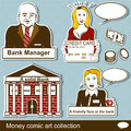 Money comic art collection illustration of a Stock Photos