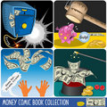 Money comic book collection Stock Images