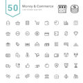 Money and Commerce Icon Sets. 50 Line Vector Icons.