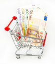 Money concept. euro cash Royalty Free Stock Photo
