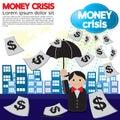Money crisis conceptual illustration vector eps Stock Photos