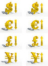 Money currency 3d cg Royalty Free Stock Photography