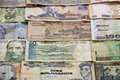 Money currency from several countries Royalty Free Stock Photo