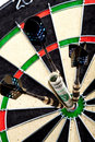Money on dartboard Royalty Free Stock Image