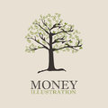 Money design over beige background vector illustration Stock Image