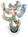 Australian Money Down The Drain Waste Royalty Free Stock Photo