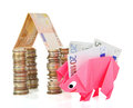 Money, earnings, and economy metaphor Royalty Free Stock Photo