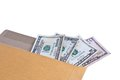 Money in envelope dollar Royalty Free Stock Image