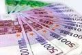 Money of Euro a fan Royalty Free Stock Photo
