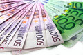 Money of Euro a fan lay Royalty Free Stock Photo