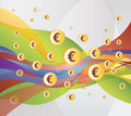 Money / Euro Flow - Illustration Royalty Free Stock Photo