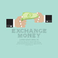 Money exchange vector illustration concept eps Royalty Free Stock Images