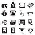 Money, finance, banking credit card icons vector Royalty Free Stock Photo