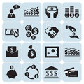 Money, finance icons Royalty Free Stock Photo