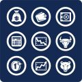 Money and Finance icons (set 10, part 1) Stock Photo