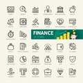 Money, finance, payments elements - minimal thin line web icon set. Outline icons collection. Royalty Free Stock Photo