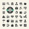 Money, finance, payments Icon set. Vector Illustration