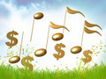 Money and finance symphony Stock Image