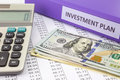 Money and financial report for business investment plan Royalty Free Stock Photo