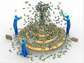 Money fountain Royalty Free Stock Photo
