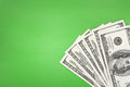 Money on green background Royalty Free Stock Photography