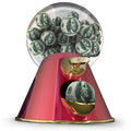 Money Gum Ball Machine Dispenser Easy Loan Borrow Funds Credit Royalty Free Stock Photo